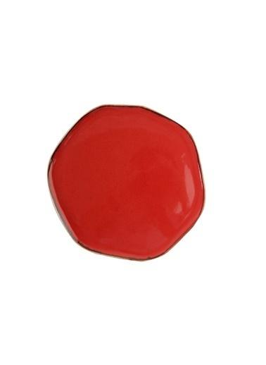 Porland Pure Seasons Kırmızı Düz Tabak 27 Cm Renkli